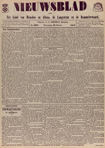 Nieuwsblad het land van Heusden en Altena de Langstraat en de Bommelerwaard 1910-10-26