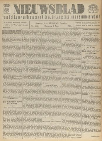 Nieuwsblad het land van Heusden en Altena de Langstraat en de Bommelerwaard 1920-06-09