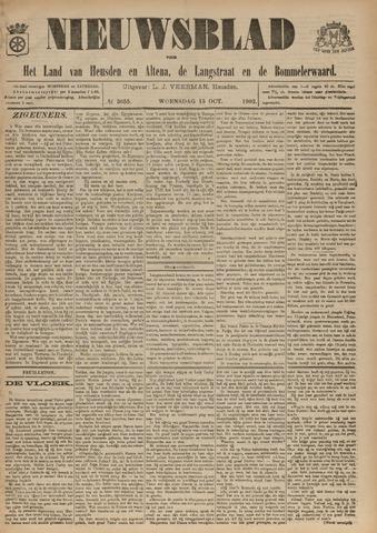Nieuwsblad het land van Heusden en Altena de Langstraat en de Bommelerwaard 1902-10-15