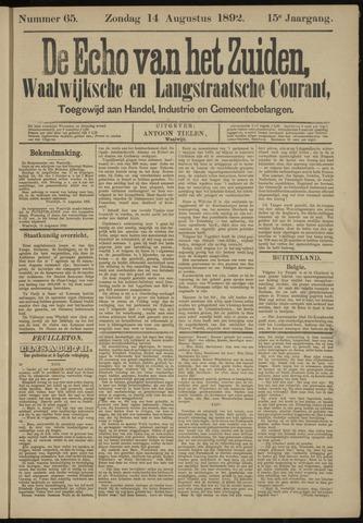 Echo van het Zuiden 1892-08-14