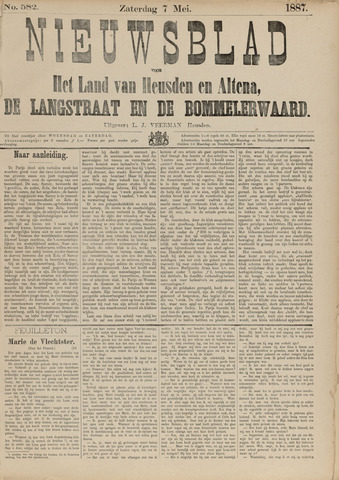 Nieuwsblad het land van Heusden en Altena de Langstraat en de Bommelerwaard 1887-05-07