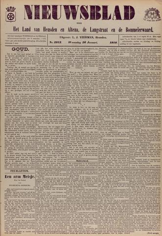 Nieuwsblad het land van Heusden en Altena de Langstraat en de Bommelerwaard 1910-01-26