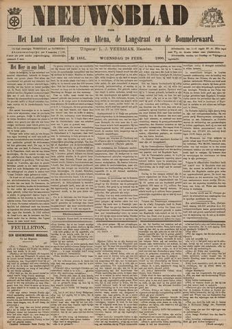 Nieuwsblad het land van Heusden en Altena de Langstraat en de Bommelerwaard 1900-02-28