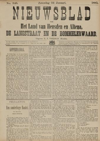 Nieuwsblad het land van Heusden en Altena de Langstraat en de Bommelerwaard 1885-01-24