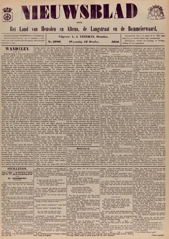 Nieuwsblad het land van Heusden en Altena de Langstraat en de Bommelerwaard 1910-10-19