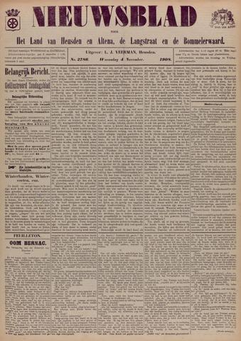 Nieuwsblad het land van Heusden en Altena de Langstraat en de Bommelerwaard 1908-11-04
