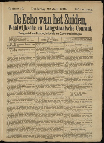 Echo van het Zuiden 1895-06-20