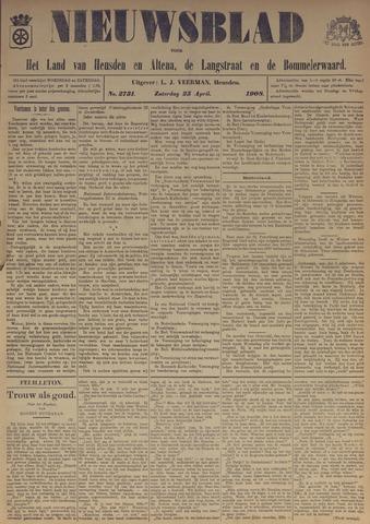 Nieuwsblad het land van Heusden en Altena de Langstraat en de Bommelerwaard 1908-04-25