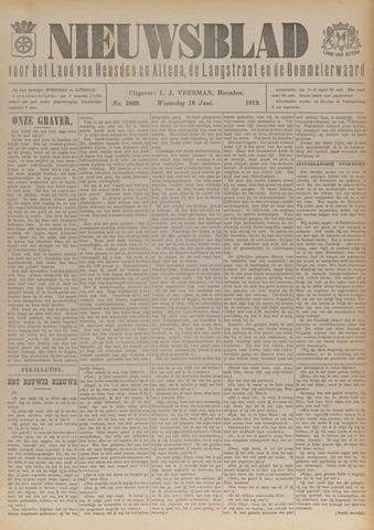Nieuwsblad het land van Heusden en Altena de Langstraat en de Bommelerwaard 1919-06-18