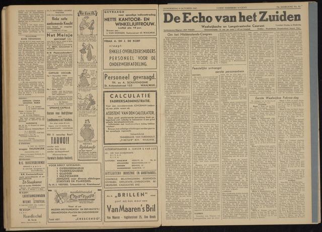 Echo van het Zuiden 1947-10-09