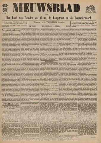 Nieuwsblad het land van Heusden en Altena de Langstraat en de Bommelerwaard 1899-09-13