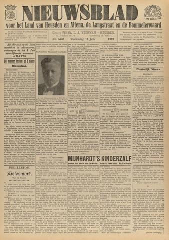 Nieuwsblad het land van Heusden en Altena de Langstraat en de Bommelerwaard 1932-06-15