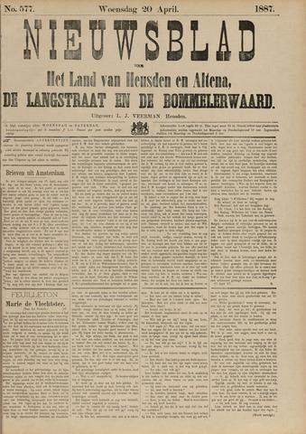 Nieuwsblad het land van Heusden en Altena de Langstraat en de Bommelerwaard 1887-04-20