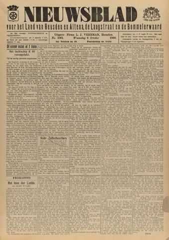 Nieuwsblad het land van Heusden en Altena de Langstraat en de Bommelerwaard 1930-10-08
