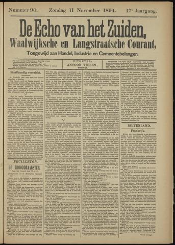 Echo van het Zuiden 1894-11-11