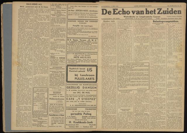 Echo van het Zuiden 1947-07-17