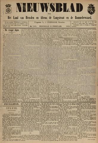 Nieuwsblad het land van Heusden en Altena de Langstraat en de Bommelerwaard 1895-02-13