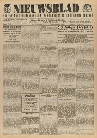 Nieuwsblad het land van Heusden en Altena de Langstraat en de Bommelerwaard 1930-12-12
