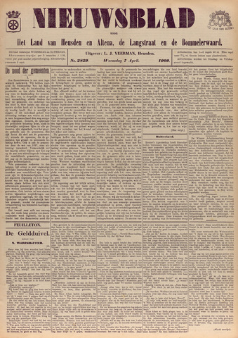 Nieuwsblad het land van Heusden en Altena de Langstraat en de Bommelerwaard 1909-04-07