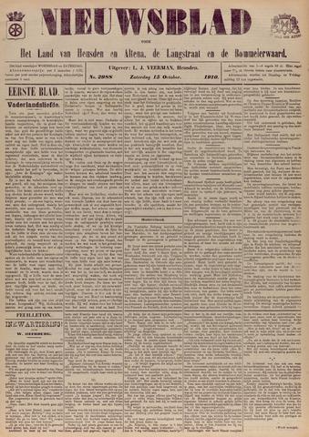 Nieuwsblad het land van Heusden en Altena de Langstraat en de Bommelerwaard 1910-10-15