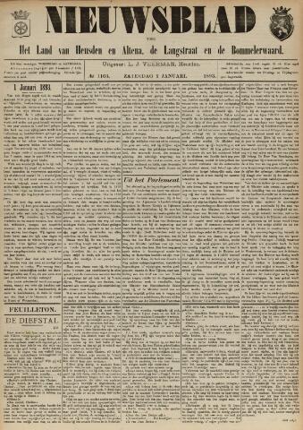 Nieuwsblad het land van Heusden en Altena de Langstraat en de Bommelerwaard 1893-01-01