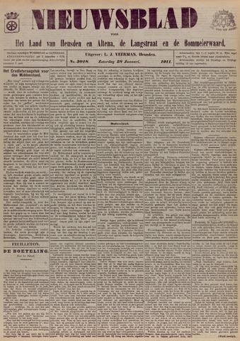 Nieuwsblad het land van Heusden en Altena de Langstraat en de Bommelerwaard 1911-01-28