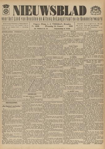 Nieuwsblad het land van Heusden en Altena de Langstraat en de Bommelerwaard 1925-01-14