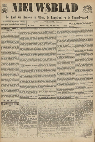 Nieuwsblad het land van Heusden en Altena de Langstraat en de Bommelerwaard 1896-03-28