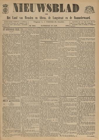Nieuwsblad het land van Heusden en Altena de Langstraat en de Bommelerwaard 1904-01-16