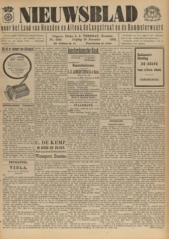 Nieuwsblad het land van Heusden en Altena de Langstraat en de Bommelerwaard 1922-11-10