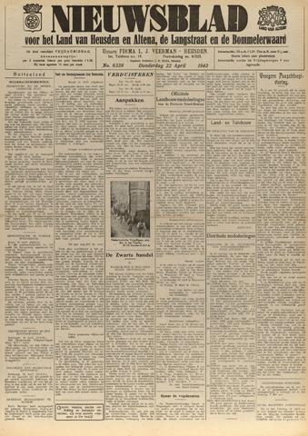 Nieuwsblad het land van Heusden en Altena de Langstraat en de Bommelerwaard 1943-04-22