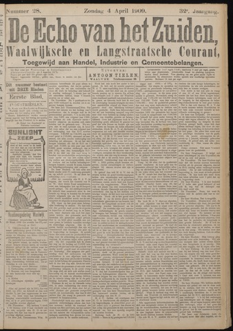 Echo van het Zuiden 1909-04-04
