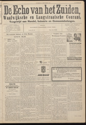 Echo van het Zuiden 1938-09-24