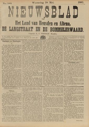 Nieuwsblad het land van Heusden en Altena de Langstraat en de Bommelerwaard 1887-05-18