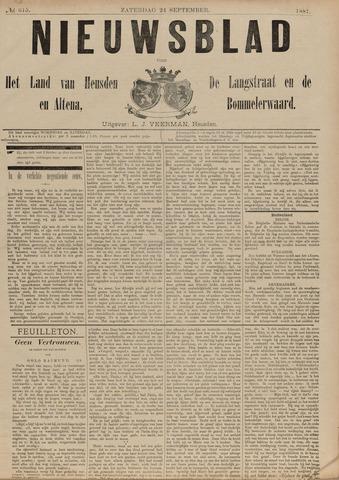 Nieuwsblad het land van Heusden en Altena de Langstraat en de Bommelerwaard 1887-09-24