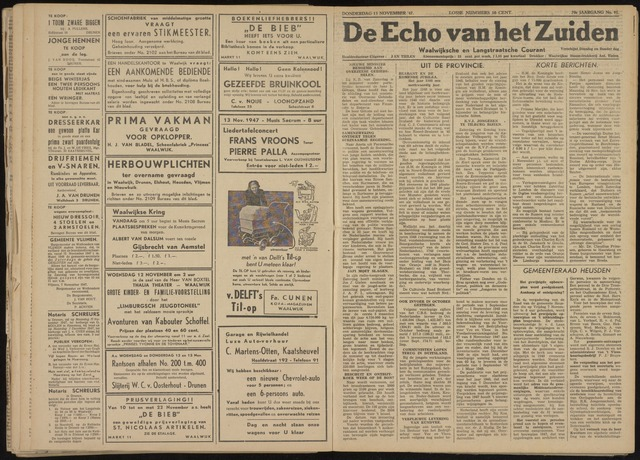 Echo van het Zuiden 1947-11-13