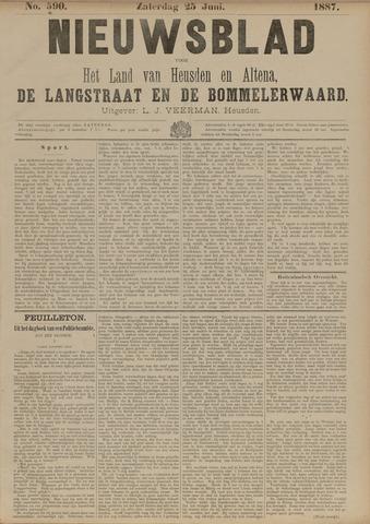 Nieuwsblad het land van Heusden en Altena de Langstraat en de Bommelerwaard 1887-06-25