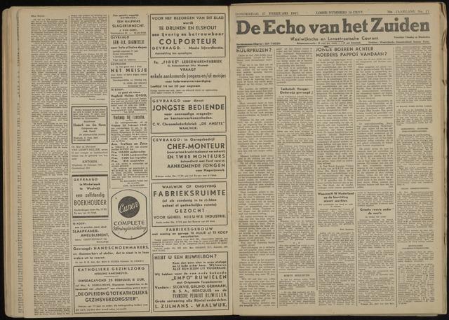 Echo van het Zuiden 1947-02-27