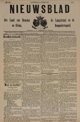 Nieuwsblad het land van Heusden en Altena de Langstraat en de Bommelerwaard 1888-02-04