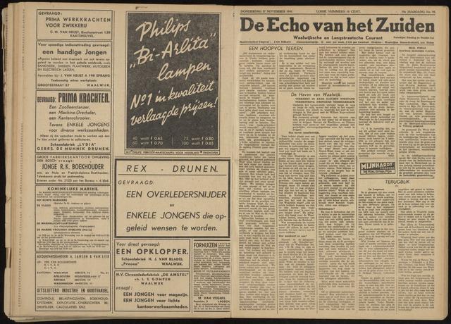 Echo van het Zuiden 1947-11-27
