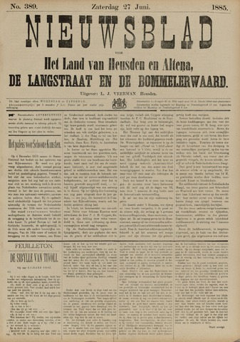 Nieuwsblad het land van Heusden en Altena de Langstraat en de Bommelerwaard 1885-06-27