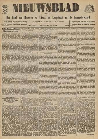 Nieuwsblad het land van Heusden en Altena de Langstraat en de Bommelerwaard 1904-09-10