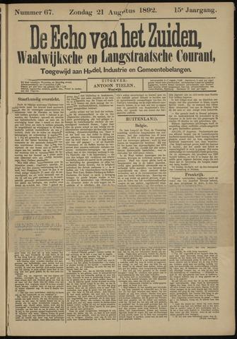 Echo van het Zuiden 1892-08-21