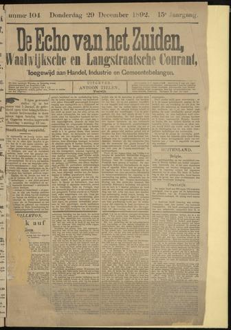 Echo van het Zuiden 1892-12-29