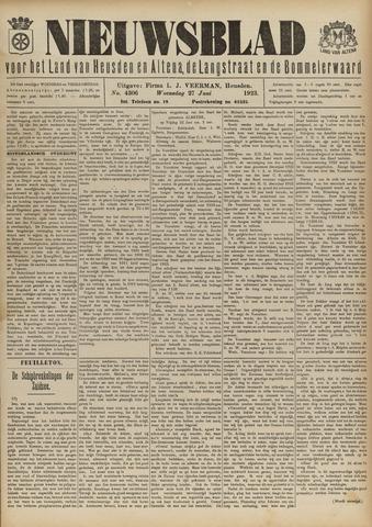 Nieuwsblad het land van Heusden en Altena de Langstraat en de Bommelerwaard 1923-06-27