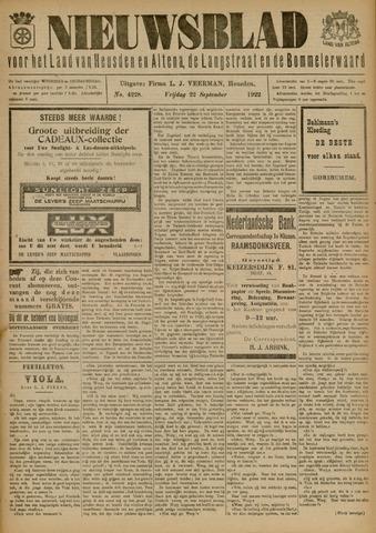 Nieuwsblad het land van Heusden en Altena de Langstraat en de Bommelerwaard 1922-09-22