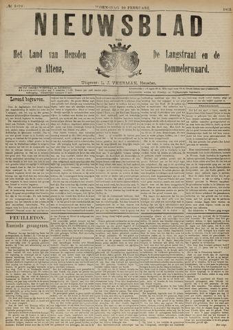 Nieuwsblad het land van Heusden en Altena de Langstraat en de Bommelerwaard 1892-02-10