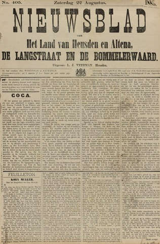 Nieuwsblad het land van Heusden en Altena de Langstraat en de Bommelerwaard 1885-08-22