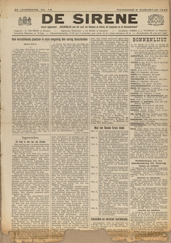 De Sirene 1945-08-06