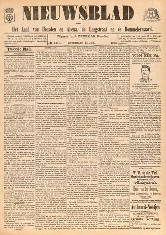 Nieuwsblad het land van Heusden en Altena de Langstraat en de Bommelerwaard 1905-07-15